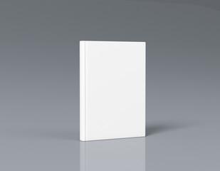 Hardcover book mock-up 3d rendering