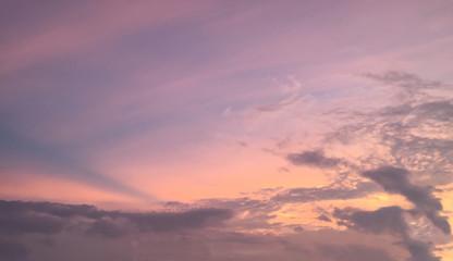 Door stickers Sunset beautiful sky