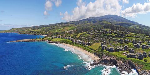 Aerial View - Oneloa Beach / Kapalua - Island of Maui - Hawaii