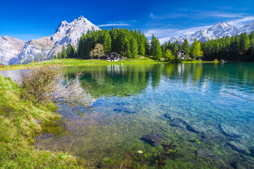 Arnisee lake with Swiss Alps, Canton of Uri, Switzerland