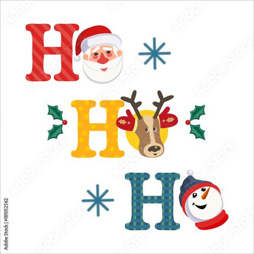 Holiday decoration cute santa claus reindeer snowman fancy cute santa claus reindeer snowman fancy letters christmas fun spiritdancerdesigns Gallery