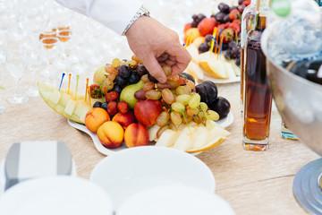 fruit at wedding,