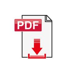 Pdf file download icon on white background