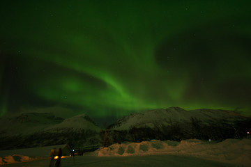 northern norway with aurora at tromso