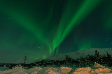 Northern Lights -Solar storm northern tromso norway