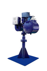 Industrial system of account of expense of fuel for pumping of vertical type for fuel storages.