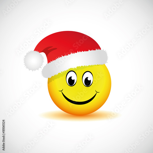 smiley mit weihnachtsm tze happy stockfotos und. Black Bedroom Furniture Sets. Home Design Ideas
