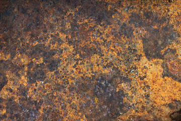 the texture of the rust