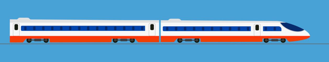 Passenger express train. Railway carriage