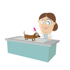 dog at the vet clipart