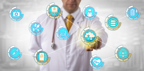Physician Activates Mobile Cloud Data Transfer