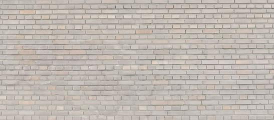 Beige brick wall panorama.