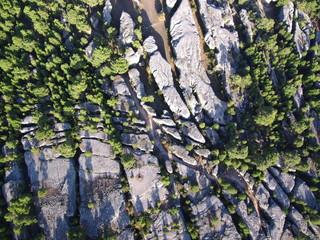 Ciudad encantada de Cuenca. Paraje natural  de formaciones rocosas calcáreas en la serrania de Cuenca