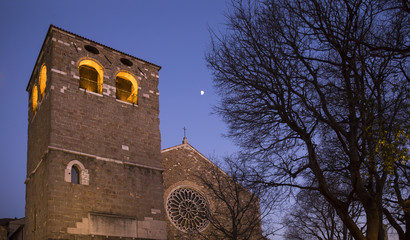 The Saint Giusto cathedral, the most important religious building catholic in Trieste, Friuli Venezia Giulia, Italy