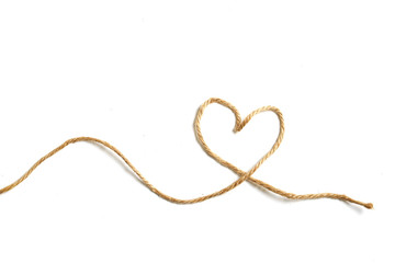 Heart shape made from rope