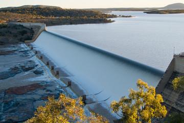 Burdekin Dam in flood