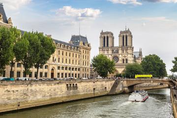 Wall Mural - Seine and Notre Dame de Paris