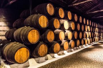 Barrels in  Porto, Portugal