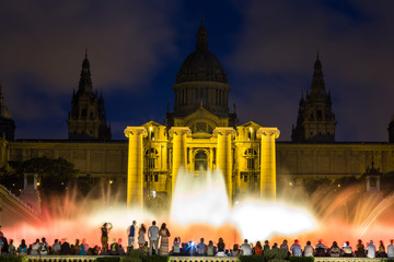Magic Fountain light show in Barcelona