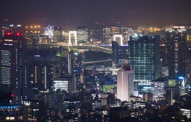 東京夜景 田町 芝浦 台場方面