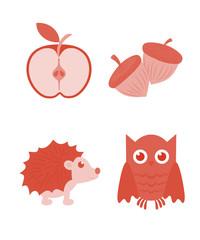 животные и фрукты