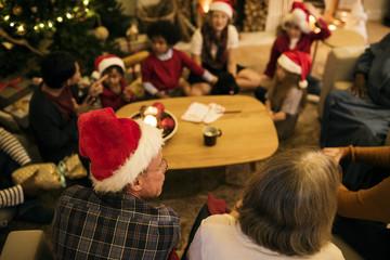People enjoying Christmas holiday