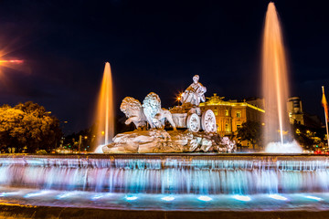 Fototapete - Cibeles fountain  in Madrid