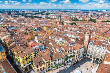 Wall Mural - Aerial view of Verona, Italy