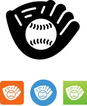 Baseball In Mitt Icon