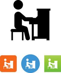 Piano Player Icon