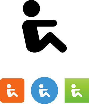 Person Doing Situps Icon
