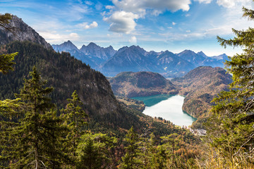 Alps and lakes in Germany
