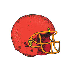 American Football Helmet  Tattoo