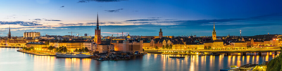 Printed roller blinds Scandinavia (Gamla Stan) in Stockholm, Sweden