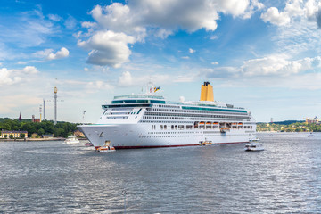 The big Cruise Ship in Stockholm