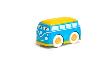 Car van children toy isolated on white background