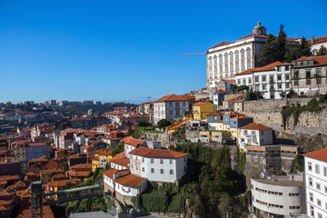 View of the old Porto downtown, Portugal..