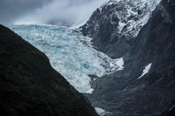 franz josef glacier national park in southland new zealand