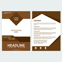 Flyer template vector design with abstract geometric shape for brochure, leaflet or poster