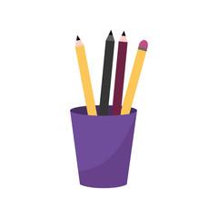 Pencils inside mug design