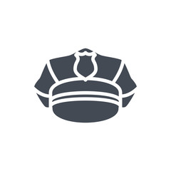 Police Equipment silhouette icon officer hat