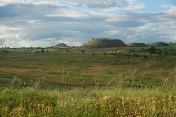 Landscape with mine waste heaps