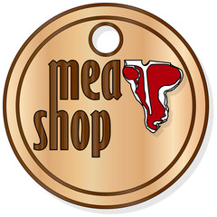 Steak House or Meat Store Labels
