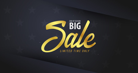 Sale banner or Flyer design with gifts. Discount background for the online store, shop, promotional leaflet, poster, banner. Vector illustration.