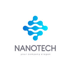 Vector logo design for business. Nanotech, innovation, technology, science