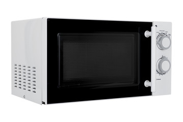 New white microwave oven isolated on white background