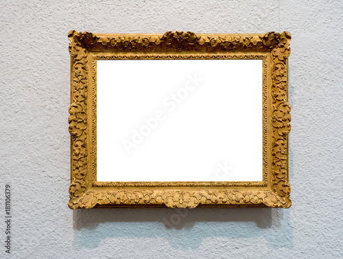 Old Antique Gold Wood Texture Picture Frame Interior Decoration Art ...