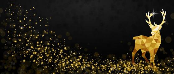 Weihnachten Rentier - Gold