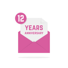 12 years anniversary icon in open letter