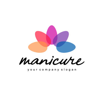 Vector logo design for manicure and nail salon